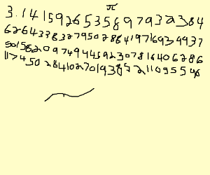 3.1415926 Pi as many digits as you can PIO
