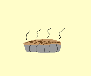 Man that pie wuz in da microwav to long