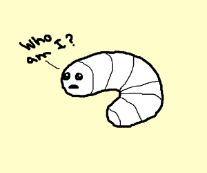 White grub questions his existence.
