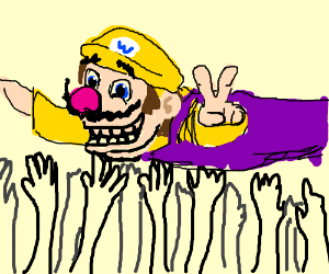 DAT WARIO CROWD SURF DOE