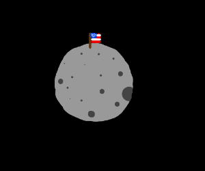 Moon conquered by USA.