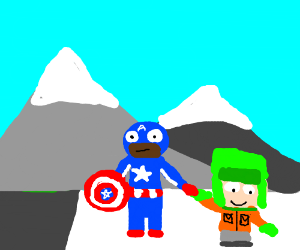 Captain America and Kyle