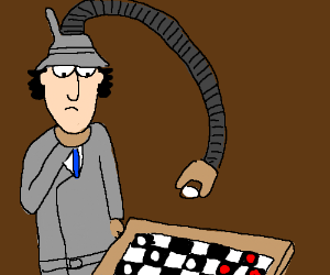 Inspector Gadget plays checkers