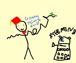 Dalek bout to Exterminate Doctor whilehe sonic