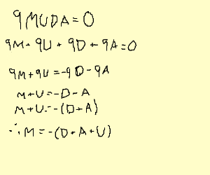 Solve this problem, MUDA times 9