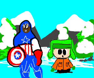 Black Captain America and Kyle Broflovski