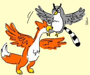 fox goose vs lemur owl!