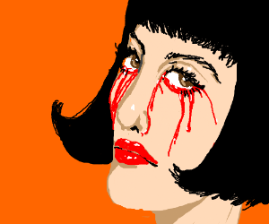 Crying blood: it's not a good sign.