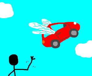 Now you are free, my dragonfly car.