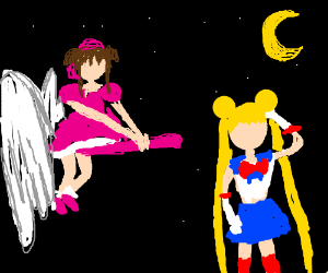 Card Captor Sakura and Sailor Moon
