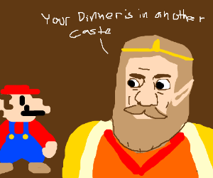 Mario's dinner is in another castle