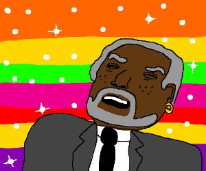 Morgan Freeman performs What's Up, a-la He-Man