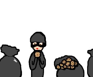 cookie burgler eats all the cookies