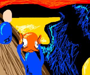 Edvard Munch's The Scream starring Octodad