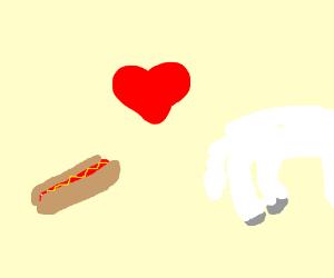 Hot dog loves lamb's bum