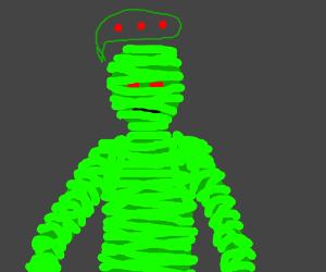 spooky green mummy