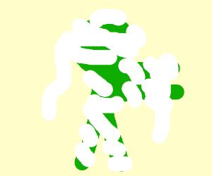 A Silent, Green, Mummified... human?
