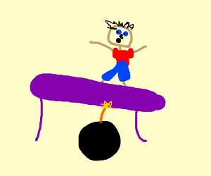 What happens when you trampoline on a bomb