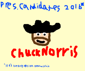 chuck norris for pres. 2016