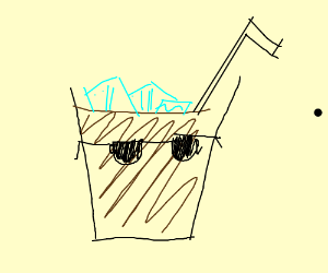 Ice Cold Chocolate Milk.