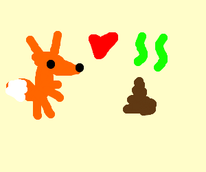 fox in love with shitpile