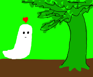 Ghost loves the giving tree.