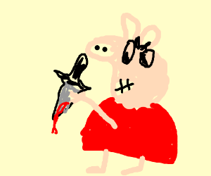 Pegga the pig becomes murderous