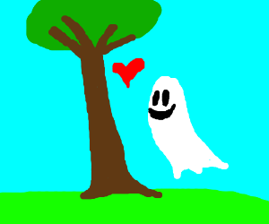 ghost in love with a tree