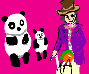 Willy Wonka replaced Oompa Loompas with pandas