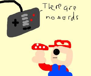 Game controller has a few words for Mario