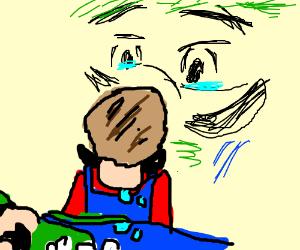 Mario mourns the death of Luigi
