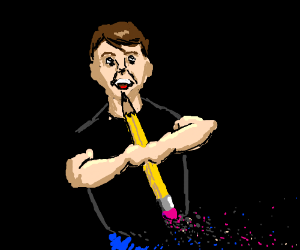 A man erasing himself PIO
