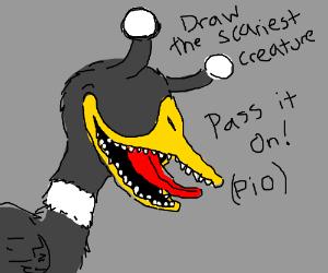 draw the scariest creature PIO