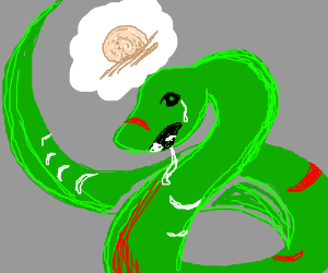 zombie snake wants brains