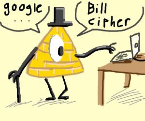 Bill cipher from gravity falls(research him)