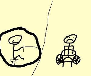 when a monocylce becomes a wheel chair