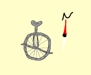 stone unicycle with compass