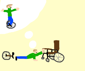 unicycle for paraplegics...oh wait...