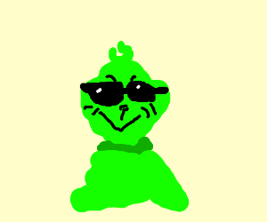 Grinch wears disguise shades