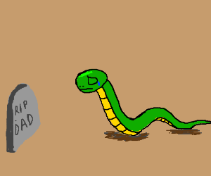 Snake mourns his beloved father