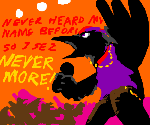 & Hip-hop raven rapping at my chamber door Pezcame.Com