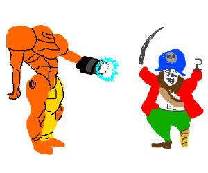 Samus versus a pirate