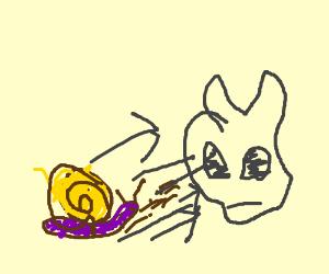 Mutant snail attacks muttering dino skull