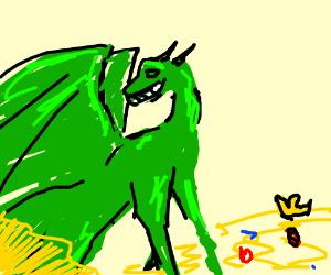 a happy dragon