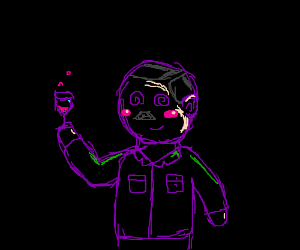 Kawaii Hitler looks intoxicated