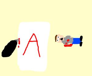 A letter written in my own blood!