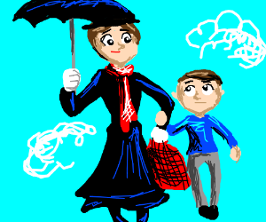 Mary Poppins adopts a nephew