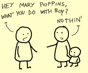 mary poppins with boy