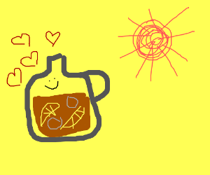 jug of ice tea is in love with sun