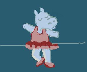ballerina hippo!